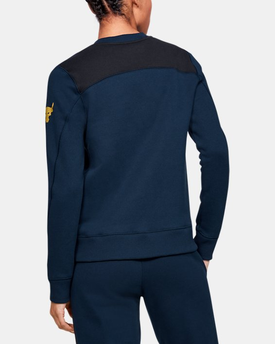 Women's UA Freedom x Project Rock Originators Fleece Crew, Navy, pdpMainDesktop image number 2