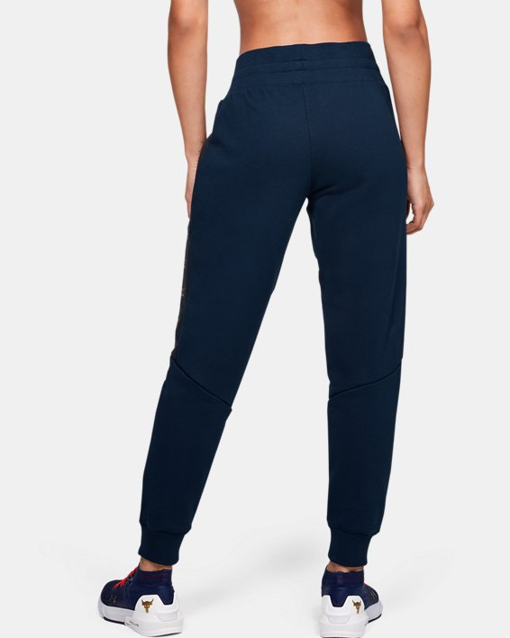 Women's UA Freedom x Project Rock Originators Fleece Pants, Navy, pdpMainDesktop image number 2
