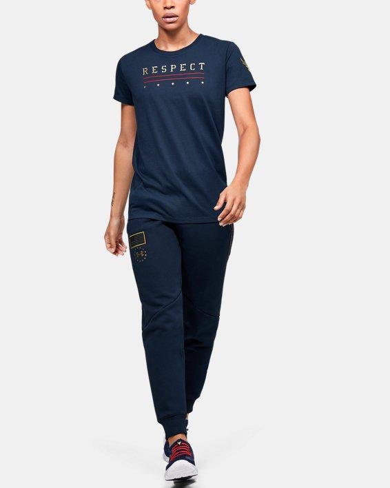 Women's UA Freedom x Project Rock Short Sleeve, Navy, pdpMainDesktop image number 1