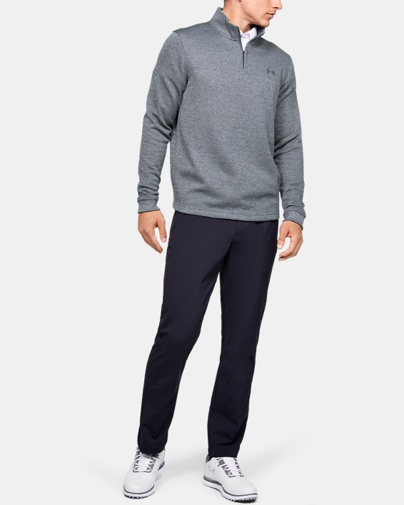 Men's UA Storm SweaterFleece ¼ Zip, Gray, pdpMainDesktop image number 1