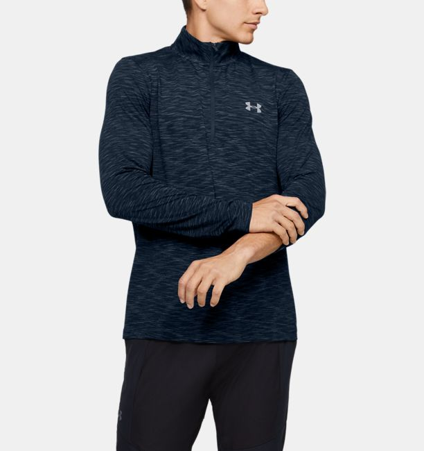 Men's UA Seamless ½ Zip, Academy, , Academy, Click to view full size
