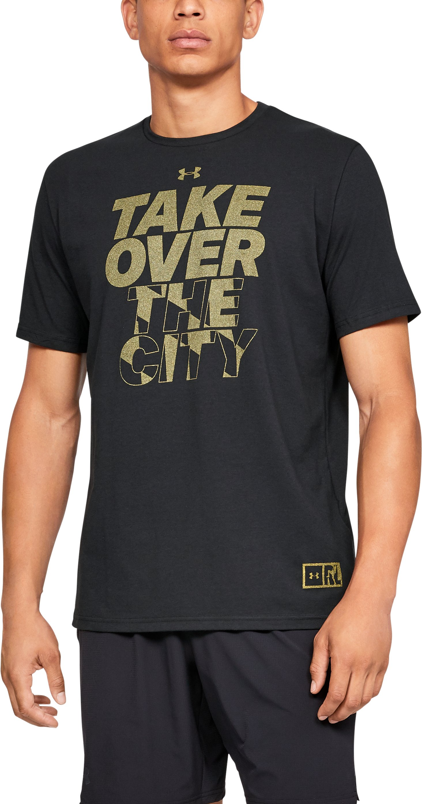Men's UA Ray Lewis Take Over The City T-Shirt, Black , zoomed