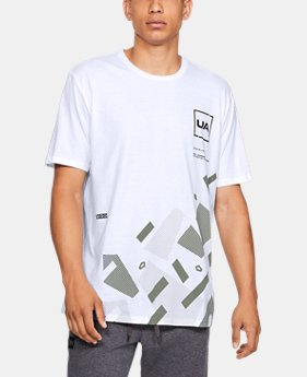 New Arrival Men's UA Fractured Camo Short Sleeve T-Shirt  1  Color Available $25