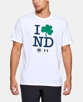 New Arrival Men's Notre Dame Short Sleeve Shirt   1  Color Available $32