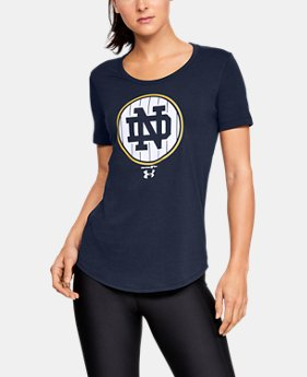 New Arrival Women's Notre Dame Short Sleeve Shirt   1  Color Available $32