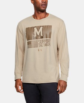 Men's Charged Cotton® Collegiate Long Sleeve Shirt  1  Color Available $28