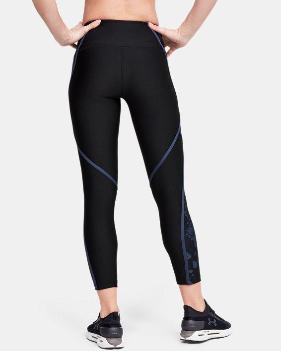 Women's HeatGear® Armour Edgelit Print Ankle Crop, Black, pdpMainDesktop image number 2