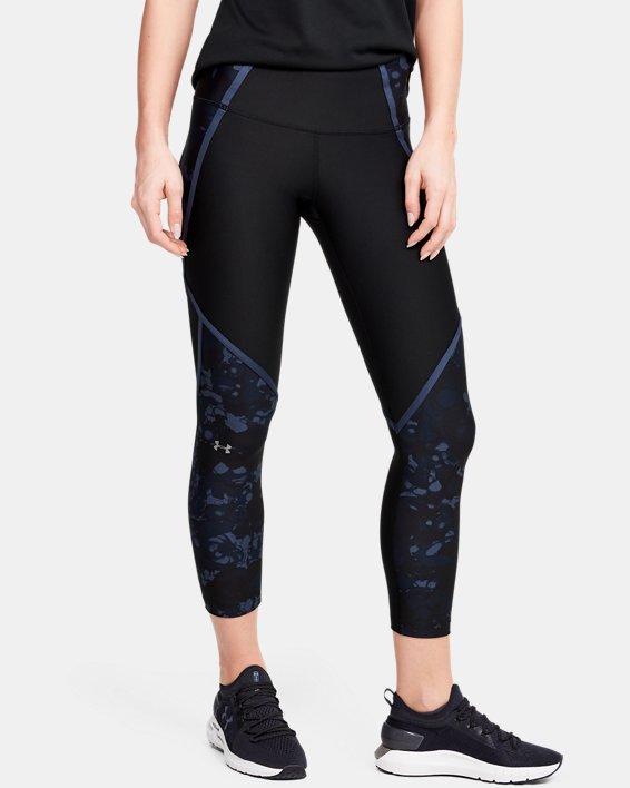 Women's HeatGear® Armour Edgelit Print Ankle Crop, Black, pdpMainDesktop image number 1