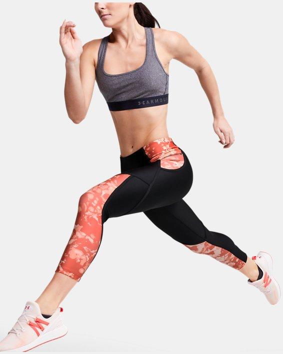Women's HeatGear® Armour Edgelit Print Ankle Crop, Black, pdpMainDesktop image number 0