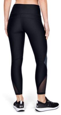 Three Quarter Leggings Under Armour Women UA HG Armour Vertical Branded Ankle Crop Lightweight Workout Leggings