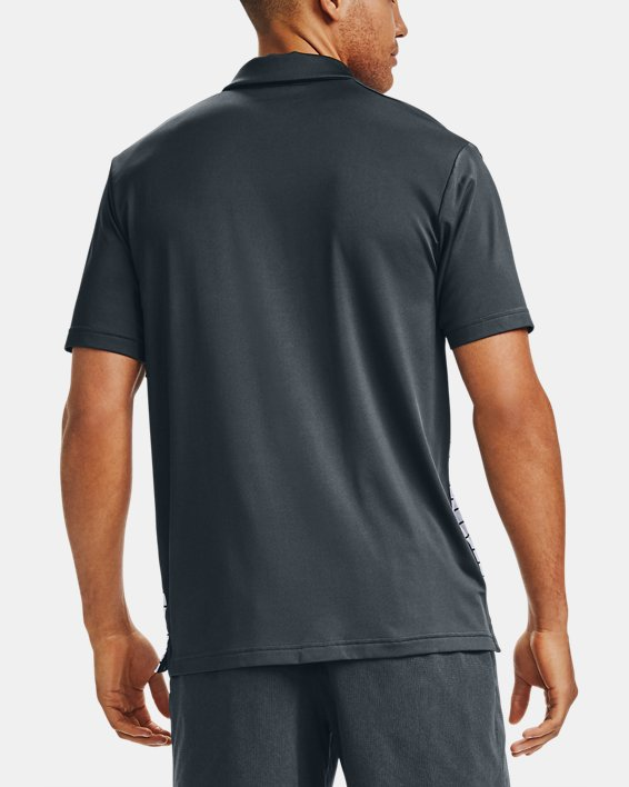 Men's UA Stripe Mix-Up Polo, Gray, pdpMainDesktop image number 2