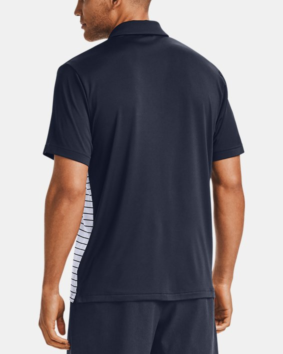 Men's UA Stripe Mix-Up Polo, Navy, pdpMainDesktop image number 2