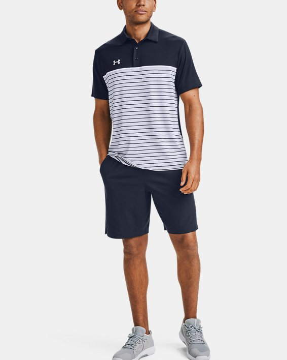 Men's UA Stripe Mix-Up Polo, Navy, pdpMainDesktop image number 1