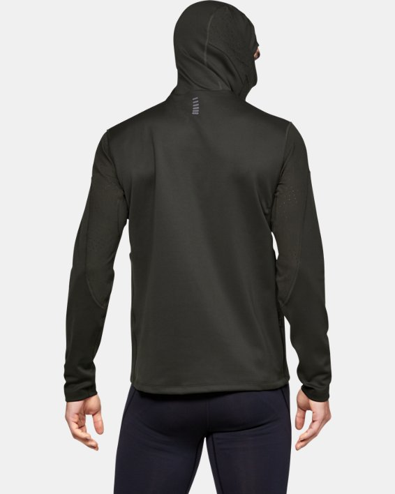 Men's UA Qualifier ColdGear® Balaclava Hoodie, Green, pdpMainDesktop image number 2