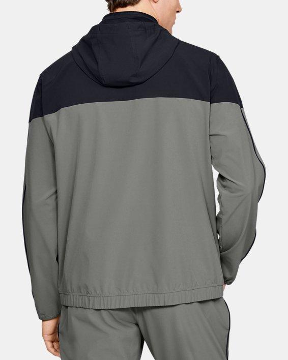 Men's UA RECOVER™ Woven Warm-Up Jacket, Green, pdpMainDesktop image number 2