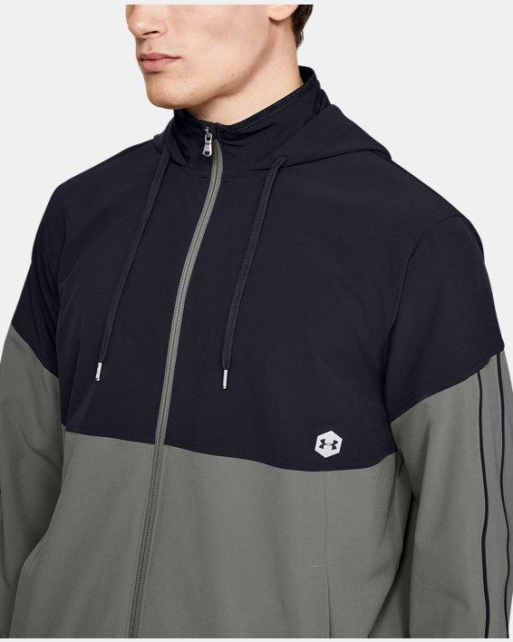 Men's UA RECOVER™ Woven Warm-Up Jacket, Green, pdpMainDesktop image number 6
