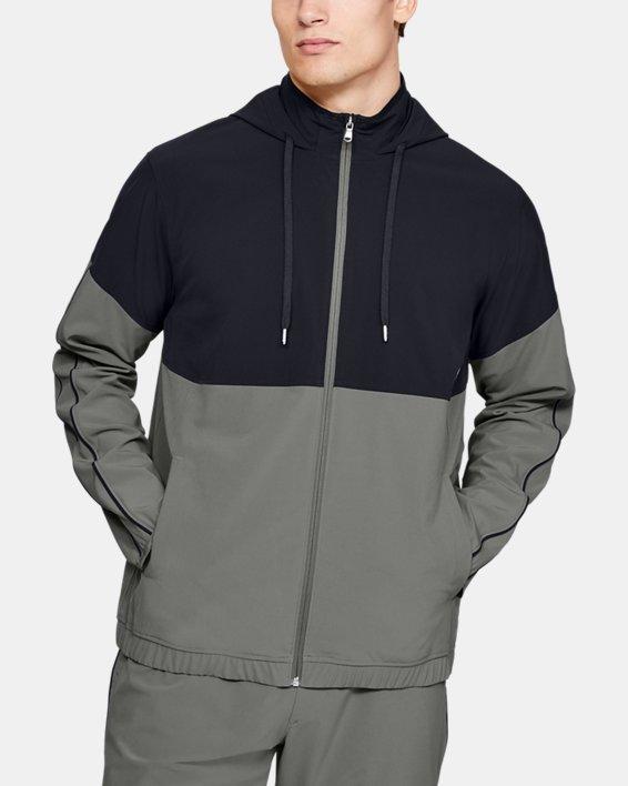 Men's UA RECOVER™ Woven Warm-Up Jacket, Green, pdpMainDesktop image number 0