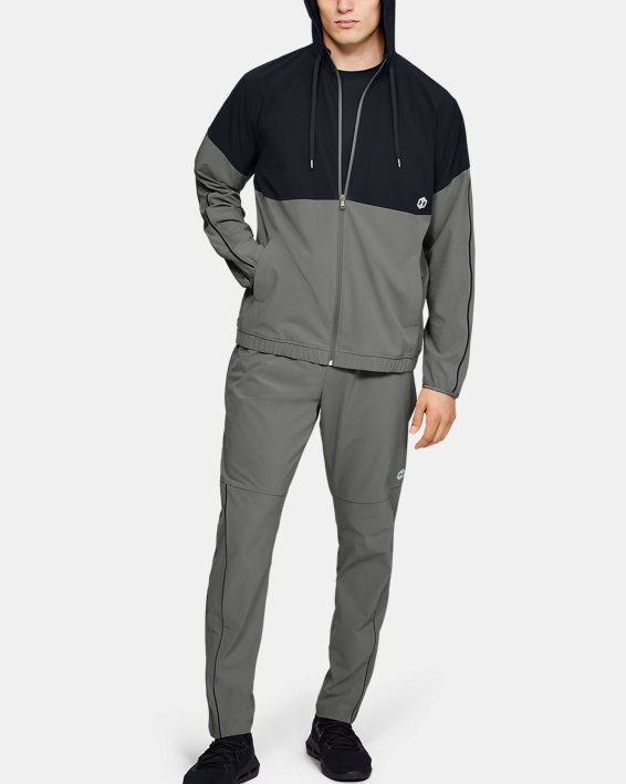 Men's UA RECOVER™ Woven Warm-Up Jacket, Green, pdpMainDesktop image number 1