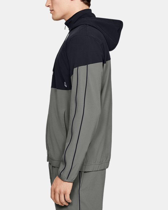 Men's UA RECOVER™ Woven Warm-Up Jacket, Green, pdpMainDesktop image number 3