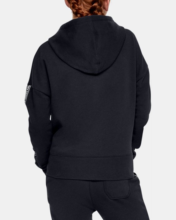 Girls' UA Sportstyle Fleece Hoodie, Black, pdpMainDesktop image number 2
