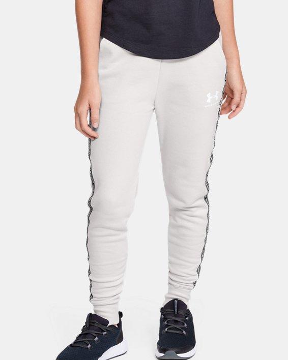 Pantalon UA Sportstyle Fleece pour fille, White, pdpMainDesktop image number 0