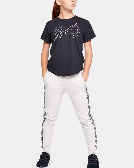 Pantalon UA Sportstyle Fleece pour fille, White, pdpMainDesktop image number 1