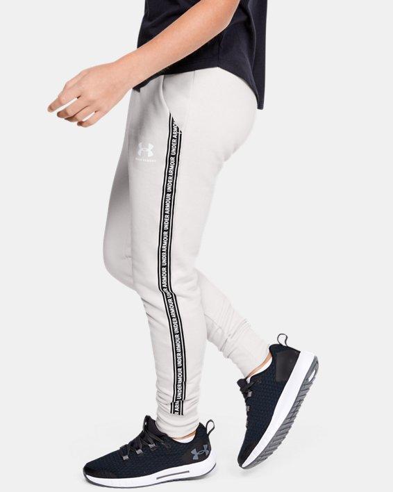 Pantalon UA Sportstyle Fleece pour fille, White, pdpMainDesktop image number 3