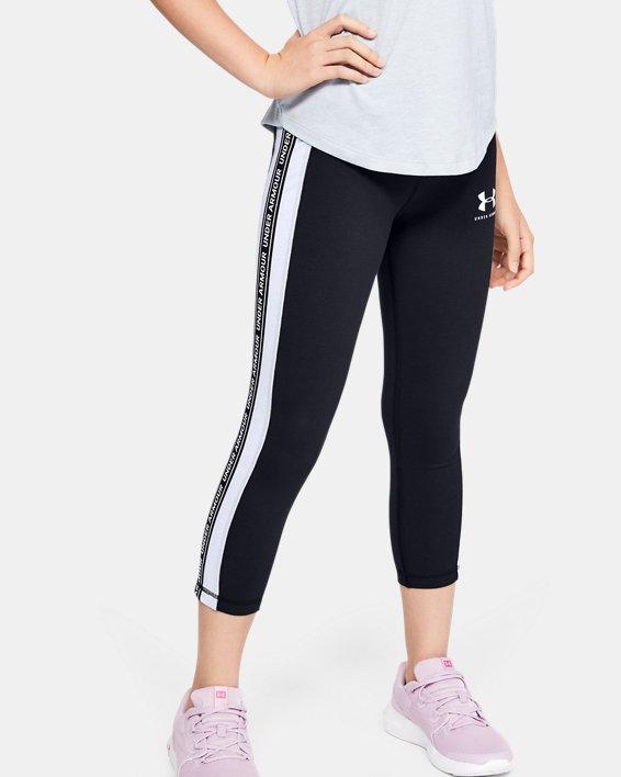 Girls' UA Sportstyle Taped Crop, Black, pdpMainDesktop image number 1