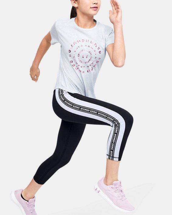 Girls' UA Sportstyle Taped Crop, Black, pdpMainDesktop image number 0