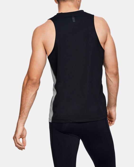 Men's UA RUSH™ Run Track Singlet, Black, pdpMainDesktop image number 2