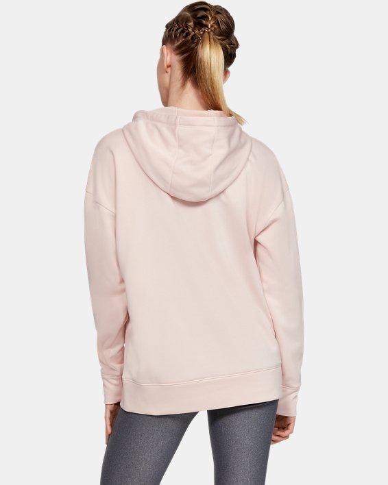 Women's Armour Fleece® Chenille Logo Hoodie, Pink, pdpMainDesktop image number 2