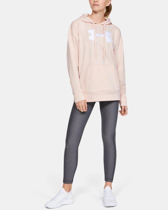 Women's Armour Fleece® Chenille Logo Hoodie, Pink, pdpMainDesktop image number 1