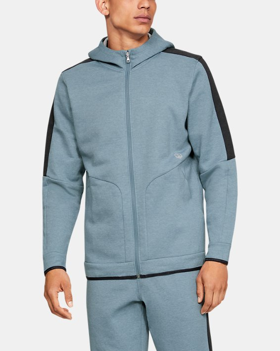 Men's UA RECOVER™ Fleece Full Zip, Gray, pdpMainDesktop image number 1