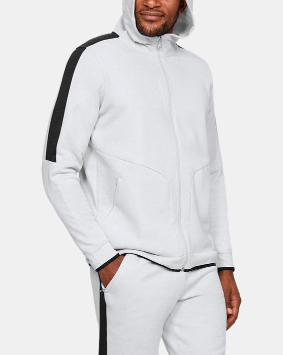 Men's UA RECOVER™ Fleece Full Zip, Gray, pdpMainDesktop image number 1