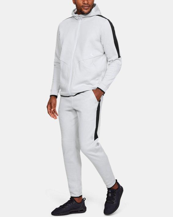 Men's UA RECOVER™ Fleece Full Zip, Gray, pdpMainDesktop image number 0