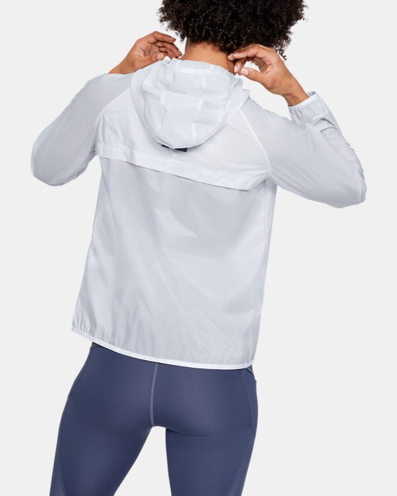 Women's UA Qualifier Storm Graphic Packable Jacket, Gray, pdpMainDesktop image number 2