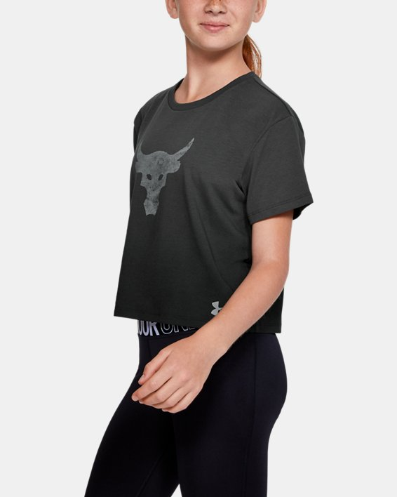 Girls' Project Rock Graphic T-Shirt, Gray, pdpMainDesktop image number 3