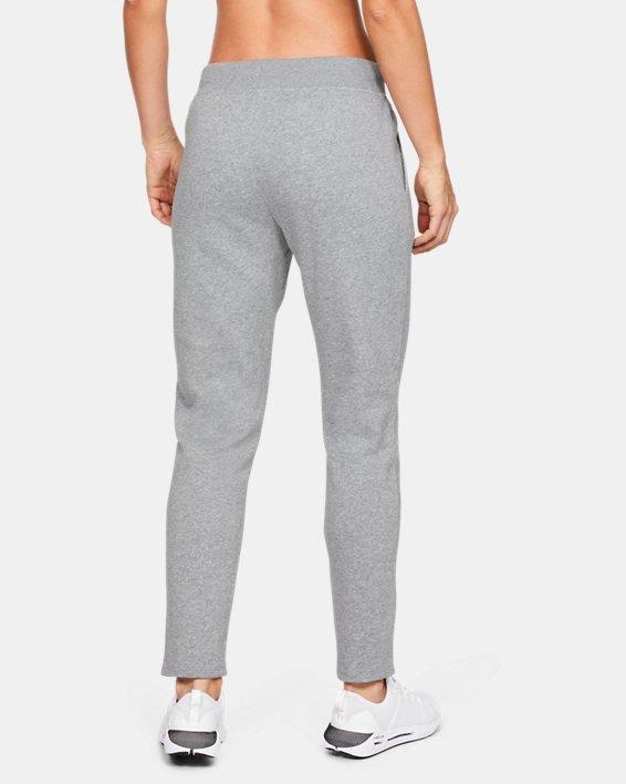 Women's UA Rival Fleece Open Hem Pants, Gray, pdpMainDesktop image number 2