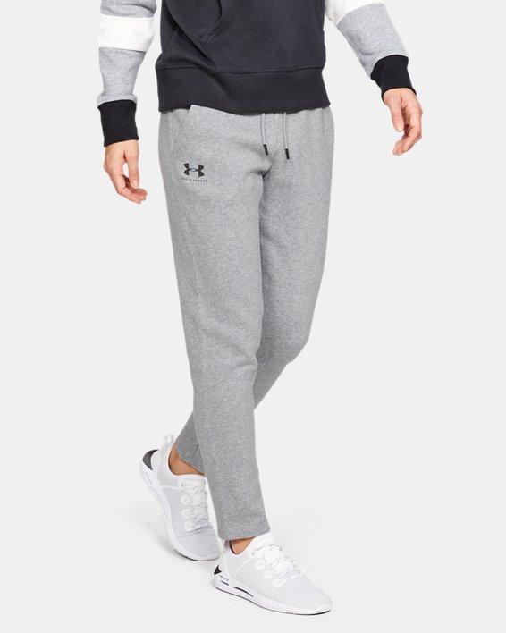 Women's UA Rival Fleece Open Hem Pants, Gray, pdpMainDesktop image number 1