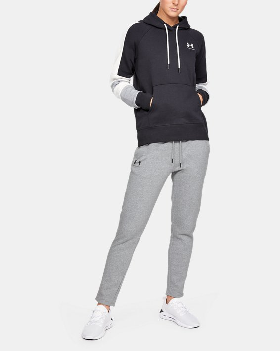 Women's UA Rival Fleece Open Hem Pants, Gray, pdpMainDesktop image number 0