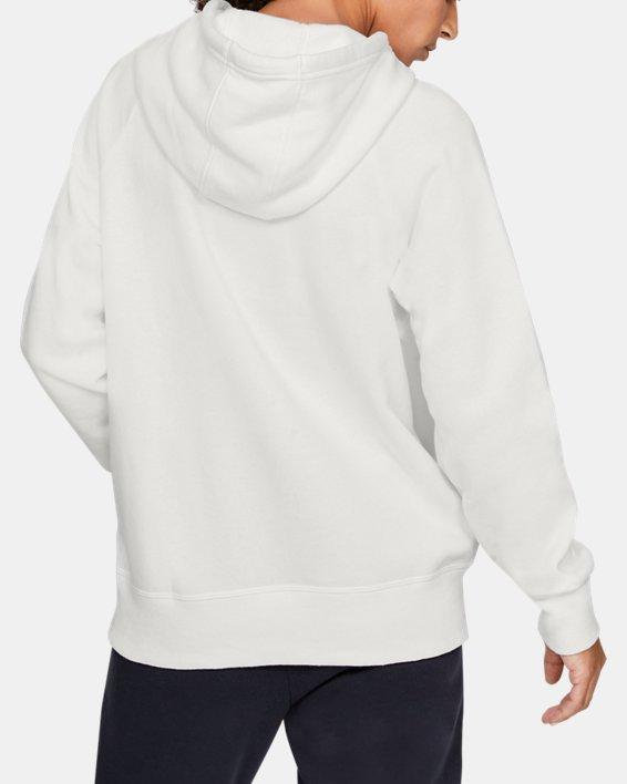 Women's UA Rival Fleece Sportstyle Graphic Hoodie, White, pdpMainDesktop image number 2