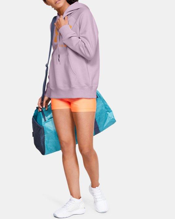 Women's UA Rival Fleece Sportstyle Graphic Hoodie, Pink, pdpMainDesktop image number 0