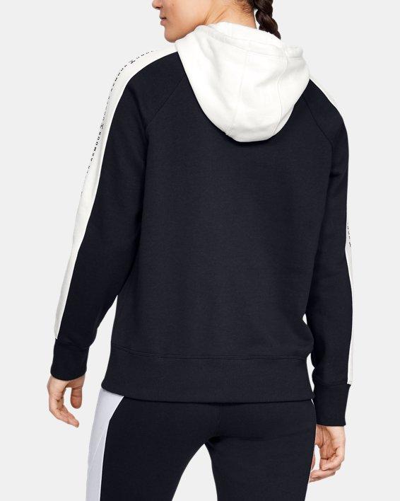 Women's UA Rival Fleece Graphic Novelty Hoodie, Black, pdpMainDesktop image number 2