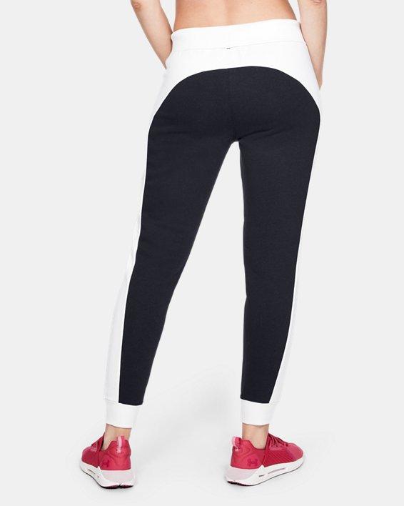 Women's UA Rival Fleece Graphic Novelty Pants, Black, pdpMainDesktop image number 2