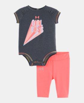 5e6abcace4 Girls' Newborn (Size 0M-9M) Short Sleeve Shirts | Under Armour US