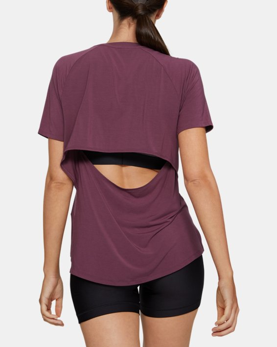 Women's UA Modal Short Sleeve, Purple, pdpMainDesktop image number 2