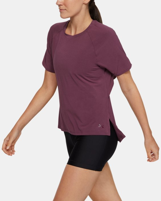 Women's UA Modal Short Sleeve, Purple, pdpMainDesktop image number 0