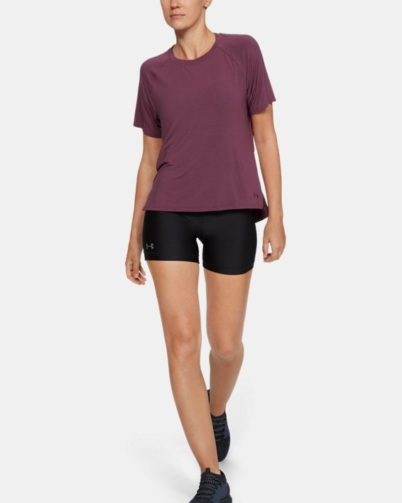 Women's UA Modal Short Sleeve, Purple, pdpMainDesktop image number 1
