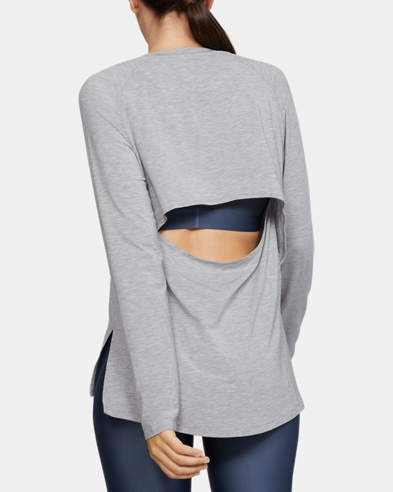 Women's UA Modal Long Sleeve, Gray, pdpMainDesktop image number 2