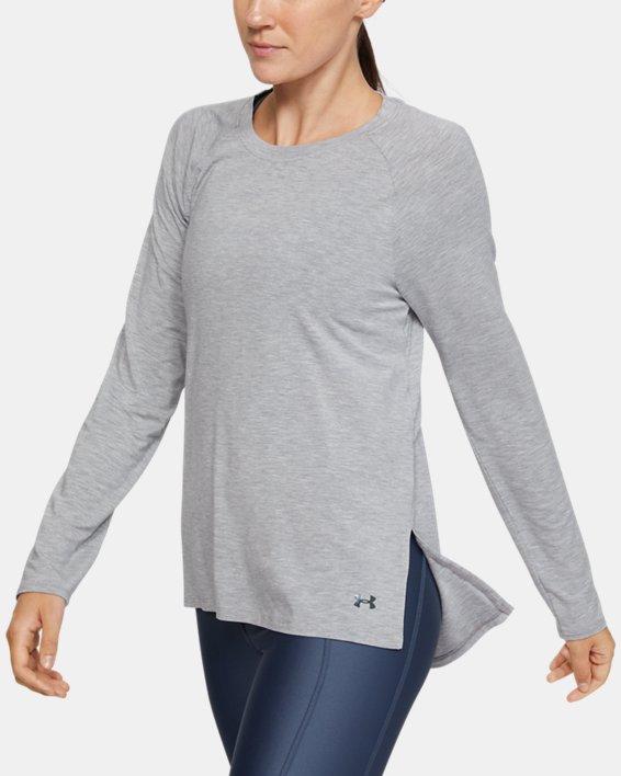Women's UA Modal Long Sleeve, Gray, pdpMainDesktop image number 1